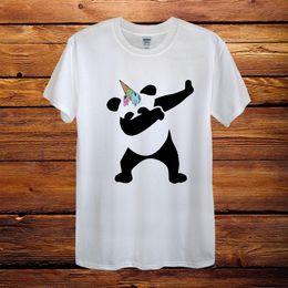 $enCountryForm.capitalKeyWord Australia - Dabbing Panda Ice Cream Unicorn Top Design T-Shirt Men Unisex Women Fitted Gift