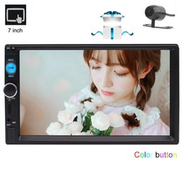 russian speakers Canada - 2 Din Car MP5 Video Radio Player in Dash Double Din Car Stereo Bluetooth 7'' Capacitive Touch Screen Car Deck Headunit Remote Control