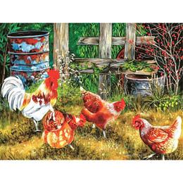 $enCountryForm.capitalKeyWord Australia - Drop shipping chicken diamond painting Animal diamond kits full cross stitch home decor Wall Art Painting gift free shipping