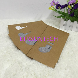 Boutique paper gifts Bags online shopping - 11 cm Brown Boutique Kraft Paper Packaging Bag for Universal Socks Stocking Selling Packaging Kraft Paper Box QW7615