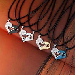 $enCountryForm.capitalKeyWord Australia - LNRRABC Fashion 1 set Unisex Women Men I Love You Heart Shape Pendant Necklace For Lovers Couples Jewelry Gift