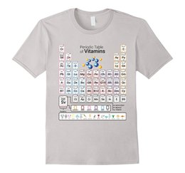 $enCountryForm.capitalKeyWord Canada - Newest Funny Periodic Table of Vitamins Educational Healthy Food Funny Printing T Shirts Men Short Sleeve T-shirts