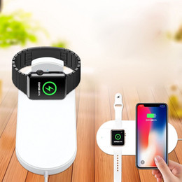 phone retail packaging charger 2019 - For iWatch Wireless Charger 2 in 1 for Apple iPhone X Mobile phone Samsung S9 S8 iWatch with Retail Package discount pho