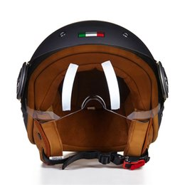 China BEON 3 4 Open Face Motorcycle Helmet Chopper Vintage Helmet 11041 Moto Casque Casco motocicleta Capacete Unisex helmets supplier helmet chopper suppliers