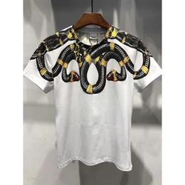 Discount social - Brand Top Marcelo Burlon T Shirt Men Women 1A:1 real Snake Wings 3D Print T-shirt MB Wing camisa masculina social Shirt