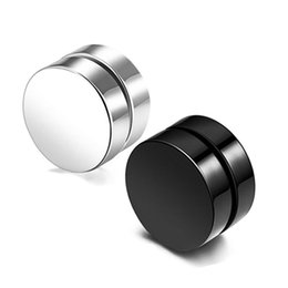 $enCountryForm.capitalKeyWord UK - ONEVAN Korean Charm Titanium Steel Earrings For Men Women Punk Black Magnet Stone Ear Clip Non Perforated Earring Jewelry Bijoux