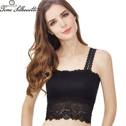0b7346ae663 2018 New Summer Crop Top Women Sexy Brandy Melville Tops Ladies Camisole  Black White Lace Bralette Short Tank Top Cami L471