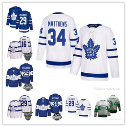 9203a143ff4 Men s Toronto Maple Leafs  34 Auston 16 Mitch Marner 29 William Nylander 91  John Tavares 100th Centennial Classic St Pats Hockey Jersey