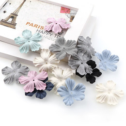 $enCountryForm.capitalKeyWord Australia - rtificial flowers decoration Artificial Flower Microfiber Fabric Hair Ornaments Clip DIY Accessories Handmade Hair Accessories Rubber Ban...