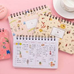 Discount school weekly planner - Weekly Plan Not58 Sheets Creative Cute Student DIY Diary Not Travel Journal Gift Planners School Office Supplies