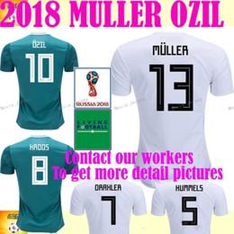 d419063ee 2018 Germany World Cup Home white Away Green Soccer Jersey MULLER soccer  shirt Draxler GOTZE OZIL KROOS BOATEN GUNDOGAN Football uniforms