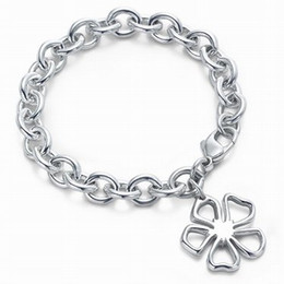 $enCountryForm.capitalKeyWord Australia - jiangyu High Quality Celebrity design Silverware Silver Chain bracelet Women Letter Flowers Clover Bracelets Jewelry With dust bag Box