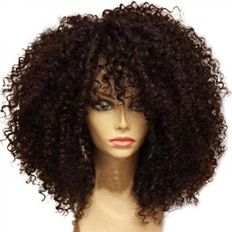 Discount afro hair wigs for african woman - African American Wig Brazilian Afro Kinky Curly Lace Front Human Hair Wigs With Baby Hair For Black Women 130 denistity