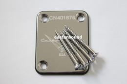 Novo Chrome Guitar Neck placas loja personalizada em Promoção