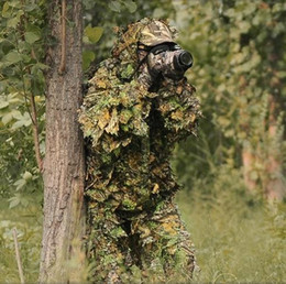 $enCountryForm.capitalKeyWord NZ - 2016 CS Ghillie suit Stealth camouflage suit mesh net style hunting clothing Sniper 3D Bionic hunting