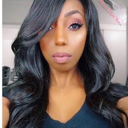 $enCountryForm.capitalKeyWord Australia - Pretty top grade 100% unprocessed raw virgin remy human hair long natural color big curly full lace cap wig for women