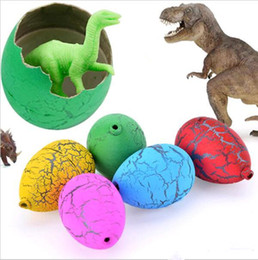 plastic dinosaur eggs Canada - Magic Water Hatching Inflatale Growing Dinosaur Eggs Toy for Kids Gift Children Educational Novelty Gag Toys Egg