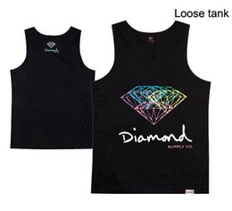 black diamonds for cheap UK - 2018 new style casual hip hop men's tank tops 100% cotton for men and women diamond plus size o-neck cheap price