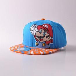 776e6fb165d Super mario hatS online shopping - 100 Cotton Super Mario Bros Mario  Snapback Baseball suit for