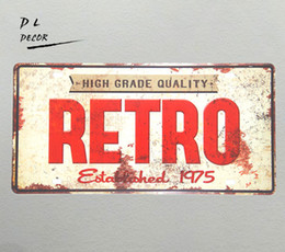 """$enCountryForm.capitalKeyWord UK - DL-""""RETRO"""" high grade quality License plate Vintage Tin sign wall pictures for living room"""