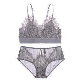 1094b0273e Discount yellow panty bra set - Women Sexy Bra Set Ladies Lace Seamless  Bralette Bustier Women