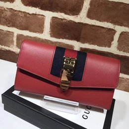 Fresh Fruits japan online shopping - Top Quality Celebrity design Letter Chain Metal Buckle Long Purse Two fold wallet Cowhide Leather Clutch