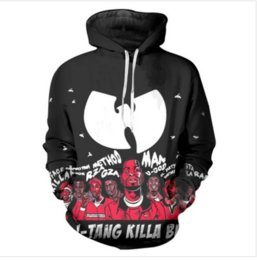 wu tang clan pullover NZ - Newest Fashion Women Men Wu Tang Clan Harajuku Style Funny 3D Printed Casual Crewneck Hoodies Sweatshirt Plus Size ZL027