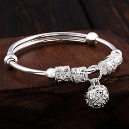 sterling silver bells NZ - Pure silver bracelet lady foot silver 990 bell bracelet delivers girlfriend birthday with a minimum diameter of 5.2cm and a maximum adjustme