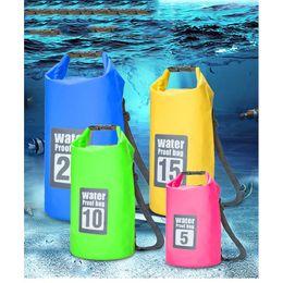 trekking gear 2019 - 5 Sizes Lightweight Waterproof Drifting Package Diving Gear Bag Camping Folding Dry Bag River Trekking Bag Outdoor Bags