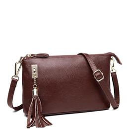 Black envelop online shopping - 2018 European Style Female Small Handbags Genuine Leather Bag Women Envelop Shoulder Bags Fashion Leather Ladies Crossbody Bag