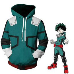 costume hoodies Australia - My Hero Academia Boku Izuku Midoriya Cosplay Costumes Anime Battle Hooded Jacket Hoodie Unisex