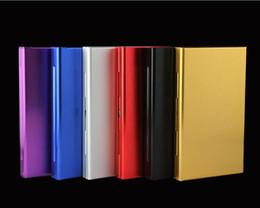 Discount aluminium alloy case - Cigarette Box Creative Aluminum Alloy Cigarette Storage Case Holding 20pcs Metal Cover Six Color For Women Christmas Gif