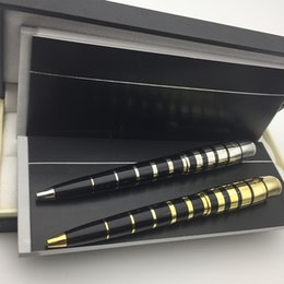 Screw penS online shopping - Luxury edition George Bernard Shaw ballpoint pen with mb pen box gift set school office supplies Writers Edition Metal Screw On Cap