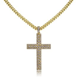 Steel pearl online shopping - mens necklace hip hop jewelry with Zircon iced out chains silver plated Vintage cross Pendant necklace stainless steel jewelry