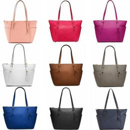 00ff520fd3 9 colors Women Handbags PU Leather Shoulder Bags Purse Large Capacity  Travel Duffle Striped Waterproof Tote Bag Wallet GGA600 10pcs