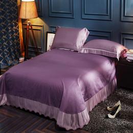 Chinese  11 Colors Comfortable Satin Silk Cotton Bed Sheet Bed skirt Sabanas bedspread Soft sheets ropa de cama manufacturers