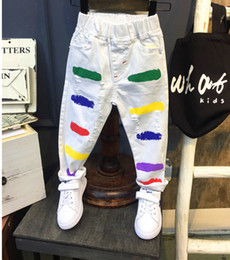 $enCountryForm.capitalKeyWord Canada - New Style Kids Jeans Boys Girls Trousers Autumn Fashion Designer Children Denim Pants Casual Ripped Jeans For 2~7Yrs ( AQ859 Y18103008