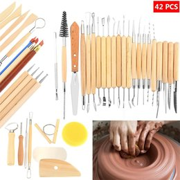Drawing Diy online shopping - Wooden Clay Sculpting Tools Suit Pottery Carving Tool Set DIY Artistic Drawing Set Factory Direct Sale bm CB