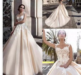 $enCountryForm.capitalKeyWord Australia - 2017 New Saudi Arabic 3D-floral Appliques A-line Wedding Dresses Flowers Button Back Chapel Train Elegant Bridal Gowns Vestios De Novia