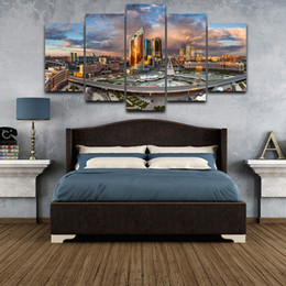 Canvas Prints Frame Australia - Poster Canvas Painting For Home Living Room Wall Art 5 Panel Astana Scenery Frames HD Modular Printed Cuadros Decoration Pictures