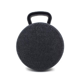 China Cloth Fabric Bluetooth Speaker, Portable Wireless Indoor Outdoor Speakers With Pastic Starps 5 color Option fast shipping round shape cheap round shape suppliers
