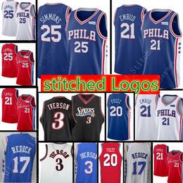 8df8ea47916 21 joel embiid 25 Ben Simmons New Philadelphia 76ers Jersey Mens 20  Markelle Fultz 17 Redick Retro Mesh 3 Allen Iverson Basketball Jerseys