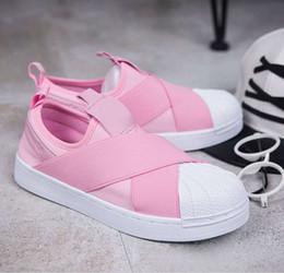 $enCountryForm.capitalKeyWord Australia - LOW PRICE Summer SUPERSTAR SLIP ON Sandals Loafers For Men Women head crossed strap 5 colors low Tops unisex sneakers 36-44