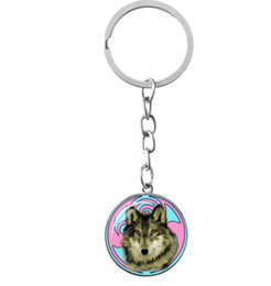 Chinese  2018 New arrival personality Wolf totem keychain Time gem luxury rings key pendant manufacturers