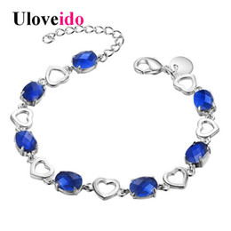 Shop alibaba express uk alibaba express free delivery to uk uloveido 10off silver color blue charms bracelet for women jewellery wedding decoration womens bracelets alibaba express ab334 junglespirit Choice Image