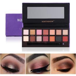 $enCountryForm.capitalKeyWord NZ - 14 Colors Matte Shimmer Eyeshadow Palette Pigmented Long Lasting Eye Shadow Powder Makeup Palette With Brush