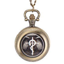 $enCountryForm.capitalKeyWord UK - Vintage Bronze Quartz Retro Pocket Watch Vintage With Necklace Chain Gift For Men Woman Relogio De Bolso Steampunk Fob Watches