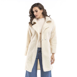94b8ff3eee8 Best selling cashmere long coat long-sleeved 2019 autumn winter new plus  size wood blends women clothing