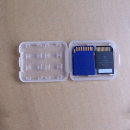 Micro Plastic Case Australia - 8 in 1 Plastic Packing Case For TF Micro SD Memory Card for SDHC TF MS Protector Holder Storage Box