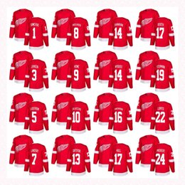 1eb9aaaaf Customized Mens Womens Youth Detroit Red Wings 1 Terry Sawchuk 5 Nicklas  Lidstrom 8 Justin Abdelkader 10 Alex Delvecchio Hockey Jerseys